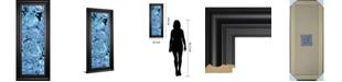 "Classy Art Blue Peonies II by Melissa Wang Framed Print Wall Art, 18"" x 42"""