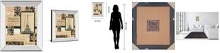 "Classy Art Travel Collage I by Gillian Fullard Mirror Framed Print Wall Art, 22"" x 26"""