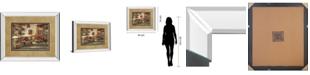 "Classy Art Courtyard Cafe by Ruanne Manning Mirror Framed Print Wall Art, 34"" x 40"""