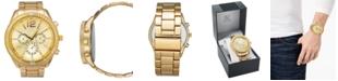 INC International Concepts I.N.C. Men's Gold-Tone Bracelet Watch 48mm