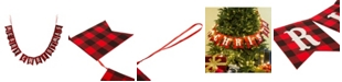 Glitzhome 8.75' L Merry Christmas Plaid Banner Garland