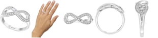 EFFY Collection EFFY® Diamond Infinity Statement Ring (1/4 ct. t.w.) in 14k White Gold