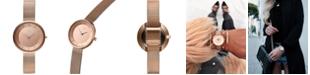 MVMT Women's Mod RG1 Rose Gold Ion-Plated Steel Mesh Bracelet Watch 32mm