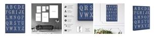 """Oliver Gal La Cursive Bleu Canvas Art, 24"""" x 36"""""""