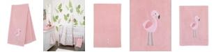NoJo Tropical Flamingo Applique Baby Blanket