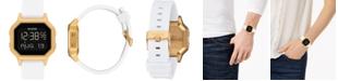 Nixon Digital Siren White Silicone Strap Watch 36mm