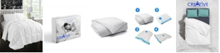 Creative Living Solution White Goose Feather and Down Cotton Case Comforter Collection