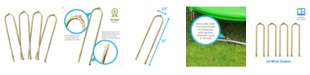 Pure Fun Universal Trampoline Wind Stakes Anchor Kit, 4 Piece