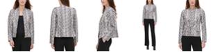Calvin Klein Snake-Embossed Zip Jacket