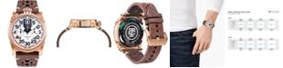 CT Scuderia Men's Swiss Chronograph Saturno Brown Leather Strap Watch 44mm
