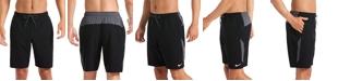 """Nike Men's 6:1 Stripe Breaker Water-Repellent Colorblocked 9"""" Board Shorts"""
