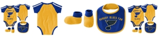 Outerstuff Baby St. Louis Blues Hard @ Play Bib & Bootie Set