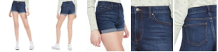 Celebrity Pink Juniors' High-Waist Cuffed Jean Shorts