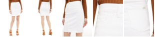 Jen7 by 7 For All Mankind Frayed-Hem Denim Pencil Skirt