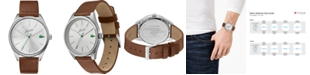 Lacoste Men's Heritage Brown Leather Strap Watch 42mm