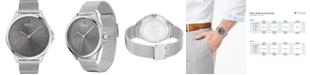 HUGO Men's #SMASH Stainless Steel Mesh Bracelet Watch 43mm
