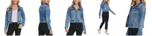 DKNY Jeans Logo-Sleeve Denim Trucker Jacket