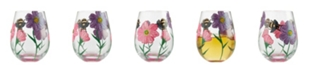 Enesco LOLITA My Drinking Garden Stemless Wine Glass