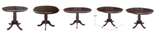 """International Concepts 36"""" Round Top Pedestal Table with 12"""" Leaf"""