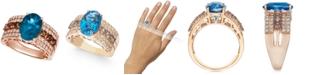Le Vian Multi-Gemstone (4-1/4 ct. t.w.) & Diamond (5/8 ct. t.w.) Ring in 14k Rose Gold