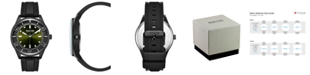 Kenneth Cole Reaction Kennth Cole Reaction Men's Dress Sport Round Black Silicon Strap Watch  46mm