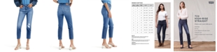 Levi's Women's 724 Straight-Leg Cropped Jeans