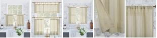 "Archaeo Slub Textured Cafe Curtain Pair, 56"" x 36"""