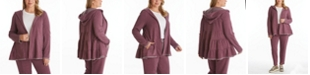 Adyson Parker Women's Plus Size Tiered Hooded Cardigan