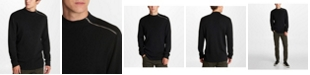 Karl Lagerfeld Paris Men's Zip Mock Neck Sweater