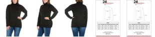 24seven Comfort Apparel Women's Plus Size Classic Turtleneck Top