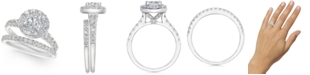 Macy's Certified Diamond Halo Bridal Set (2 ct. t.w.) in 14k White or Yellow Gold