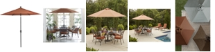 Furniture Chateau Outdoor 11' Push Button Tilt Umbrella, Created for Macy's