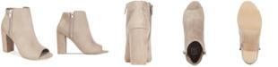 Material Girl Carena Peep-Toe Booties, Created for Macy's