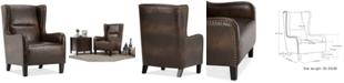 Simpli Home Vereen Wingback Chair, Quick Ship