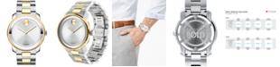 Movado Men's Swiss Bold Two-Tone Stainless Steel Bracelet Watch 42mm 3600431