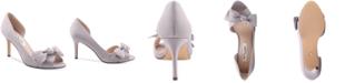 Nina Forbes 2 Bow Peep-Toe D'Orsay Evening Pumps