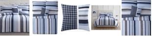 My World Mason Reversible 4-Pc. Stripe Full Quilt Set