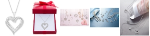 "Macy's Diamond Heart Pendant 18"" Necklace (1/2 ct. t.w.)"