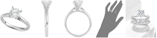 Macy's Star Signature Diamond Solitaire Engagement Ring (1-1/2 ct. t.w.) in 14k Gold or White Gold
