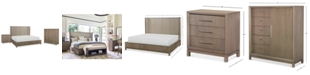 Furniture Rachael Ray Highline Bedroom Furniture, 3-Pc. Set (Upholstered Shelter Queen Bed, Chest & Nightstand)