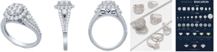 Macy's Diamond Cluster Engagement Ring (1-1/2 ct. t.w.) in 14k White Gold