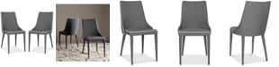 Safavieh Channing Gray Side Chair (Set Of 2)