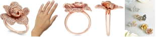 EFFY Collection Pave Rose by EFFY® Diamond Ring in 14k Rose Gold (1-1/8 ct. t.w.)
