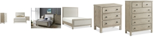 Furniture Parker Upholstered Bedroom Furniture, 3-Pc. Set (Full Bed, Chest & Nightstand), Created for Macy's