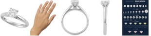 Macy's Star Signature Diamond Solitaire Engagement Ring (3/4 ct. t.w.) in 14k White Gold
