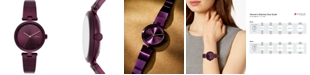 DKNY Women's Eastside Port Purple Stainless Steel Half-Bangle Bracelet Watch 34mm, Created for Macy's