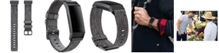 Fitbit Charge 3 Charcoal Polyester Woven Strap