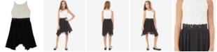 BCX Big Girls Plus-Size Lace Fit & Flare Dress