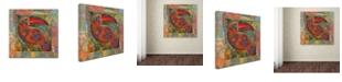 "Trademark Global Oxana Ziaka 'Tukan 1' Canvas Art - 14"" x 14"" x 2"""