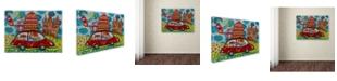 """Trademark Global Oxana Ziaka 'We Are Coming' Canvas Art - 19"""" x 14"""" x 2"""""""